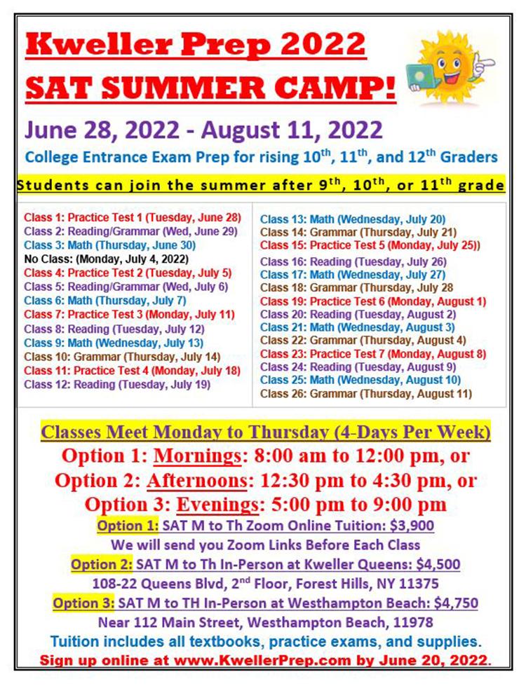 SAT-Summer-2022-Weekdays